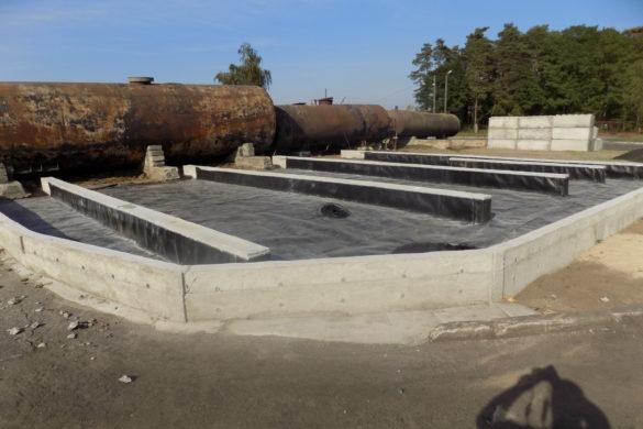 Taca pod zbiorniki w miejscowości Kargowa woj. Lubuskie Pierwszy etap