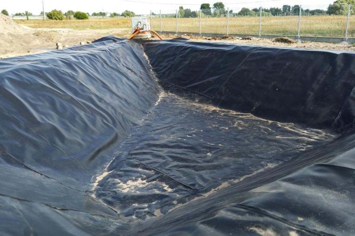 Uszczelnienie zbiornika w miejscowości Maszewo